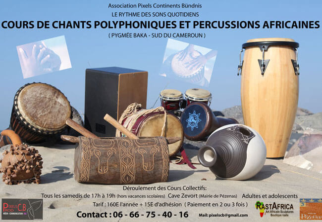 Cours percussions-chants